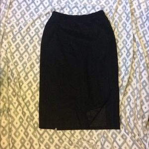 Black classic Pendleton wool skirt
